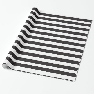 Black And White Stripes Pattern Wrapping Paper