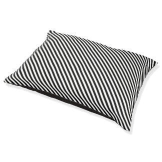 Black and White Stripes Pet Bed
