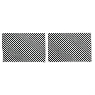 Black and White Stripes Pillowcase