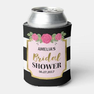 Black and White Stripes Pink Roses Bridal Shower