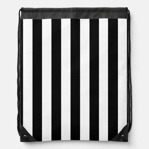 Black and White Stripes Backpacks