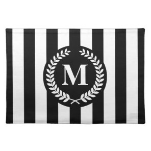 Black and White Stripes Placemat