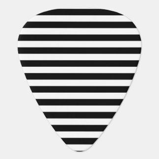 Black and White Stripes Plectrum