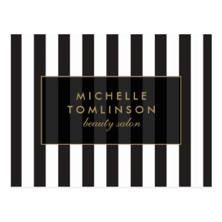 Black and White Stripes Salon III Postcard