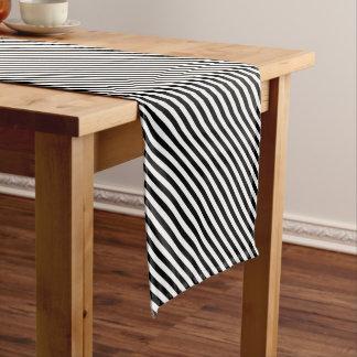 Black and White Stripes Short Table Runner