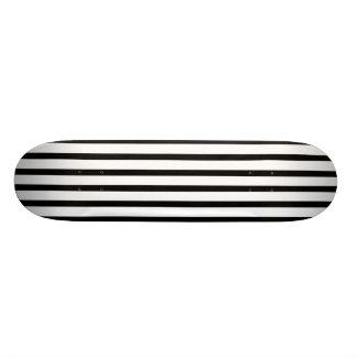Black and White Stripes Skate Boards