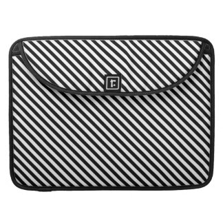 Black and White Stripes Sleeve For MacBooks