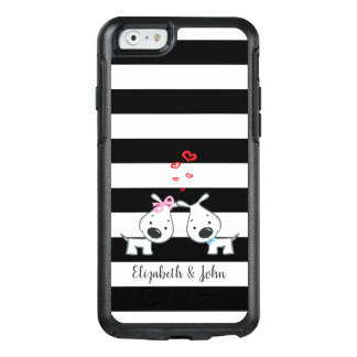 Black and White stripes,White,Dogs In Love OtterBox iPhone 6/6s Case