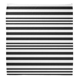 Black and White Stripes X 3 Bandana