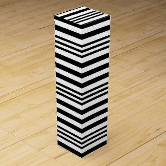 Black and White Stripes X 3 Wine Gift Box