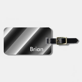 Black and White Stunning Luggage Tag