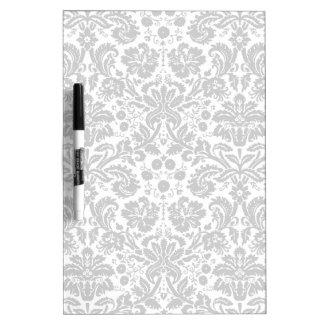 Black and white stylish damask pattern dry erase white board