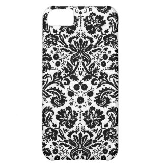 Black and white stylish damask pattern iPhone 5C case