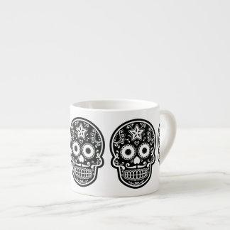 Black and White Sugar Skull Star Espresso Mug