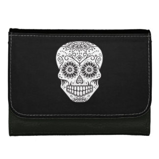 Black and White Sugar Skull Wallet