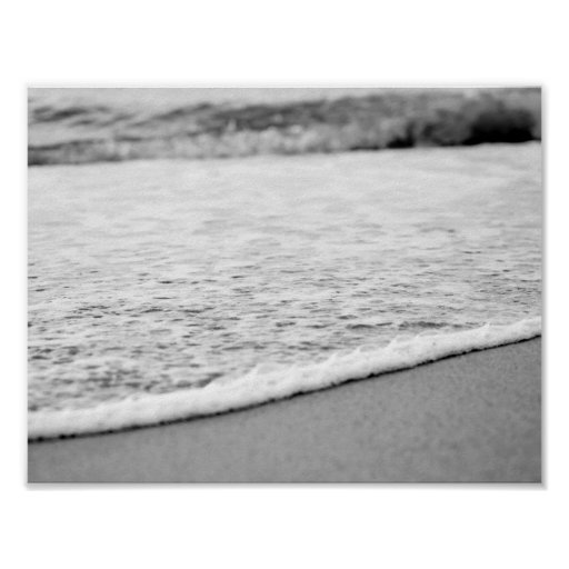 Black and White Summer beach Poster