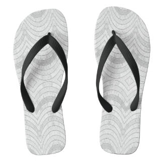 Black and white summer flipflops