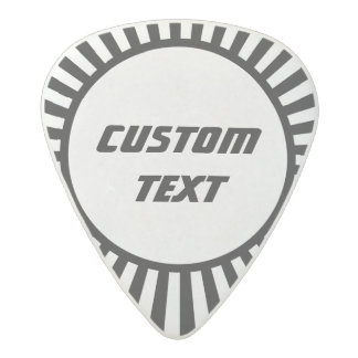 Black and white sunburst custom guitar pick