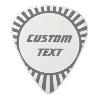 Black and white sunburst custom guitar pick acetal guitar pick