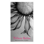 Black and White Sunflower Pack Of Standard Business Cards