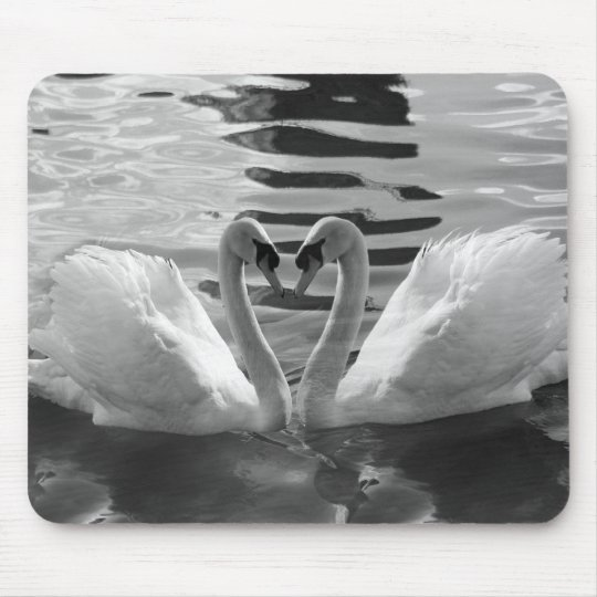 Black and White Swans Mousepad