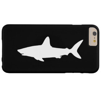 Black and White Swimming Shark Barely There iPhone 6 Plus Case