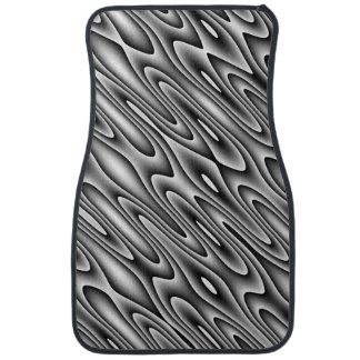 Black and White Swirl Car Mats Floor Mat