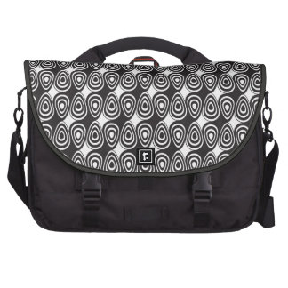 black and white swirl optical illusion commuter bags