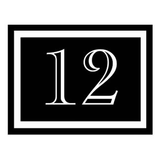 Black and White Table Number Cards