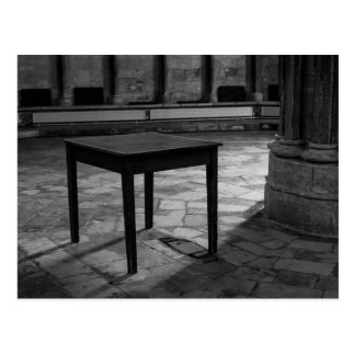 Black And White Table Photograph Postcard