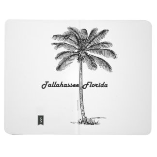 Black and White Tallahassee & Palm design Journal