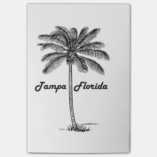 Black and White Tampa & Palm design Post-it Notes