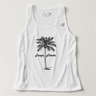 Black and White Tampa & Palm design Tank Top