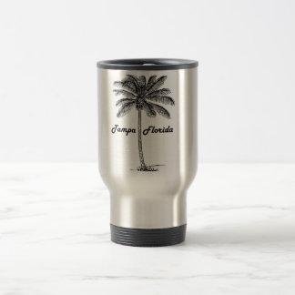 Black and White Tampa & Palm design Travel Mug