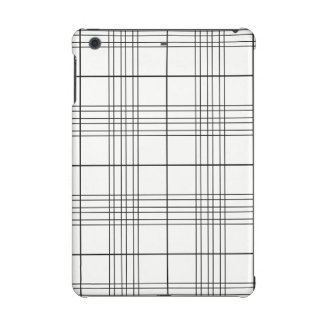 Black And White Tartan Plaid Checked Pattern