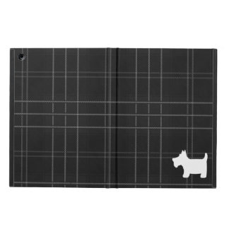 Black and White Tartan & Scottie Dog iPad Air Cover