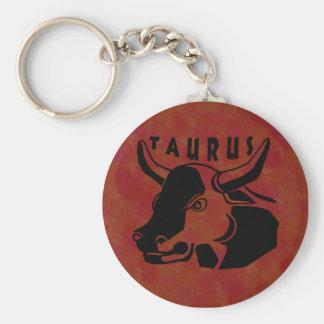 Black and White Taurus Keychain