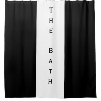 Black and White 'The Bath' Shower Curtain