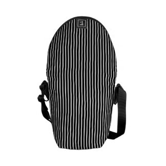 Black and White Thin Striped Commuter Bag