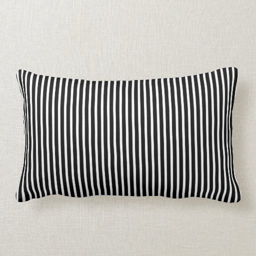 Black and White Thin Striped Pillow