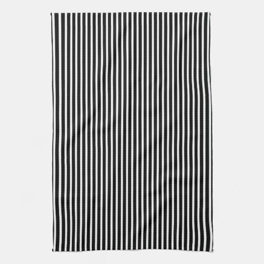Black and White Thin Striped Tea Towel