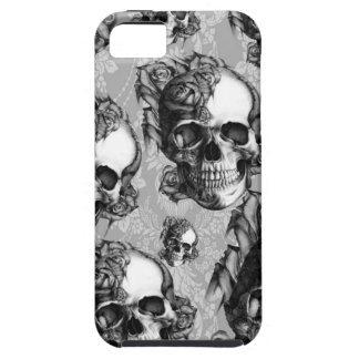 Black and white thinking, multi skull pattern. iPhone 5 case