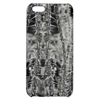 Black and White Thorns Macro Image Case For iPhone 5C