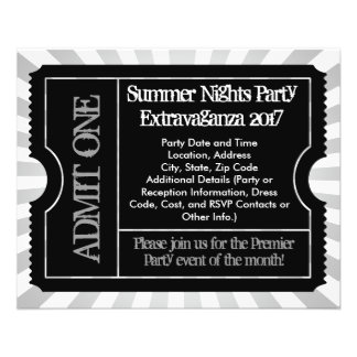 Black and White Ticket Flyers, Custom Printing Flyer