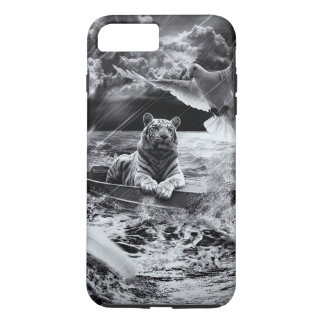 Black and White Tiger Boat Sailing Skylight iPhone 7 Plus Case