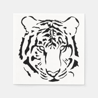 Black and White Tiger Cocktail Napkins Disposable Serviette