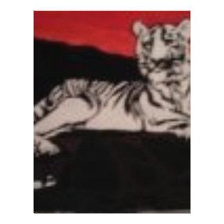 black and white tiger flyer design
