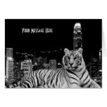 Black and White Tiger Greeting Card