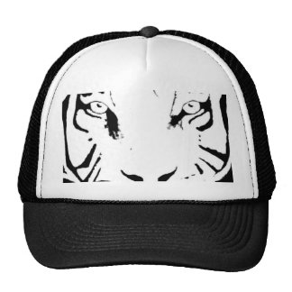 BLACK AND WHITE TIGER HAT