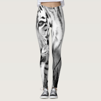 Black and White Tiger Leggings